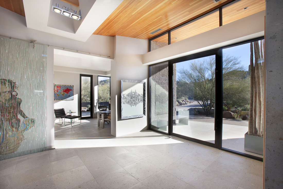 Modern Entry Foyer : Desert modern for the magnificent collection drewett works