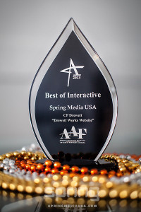 Spring Media USA wins Best of Interactive for Drewett Works website