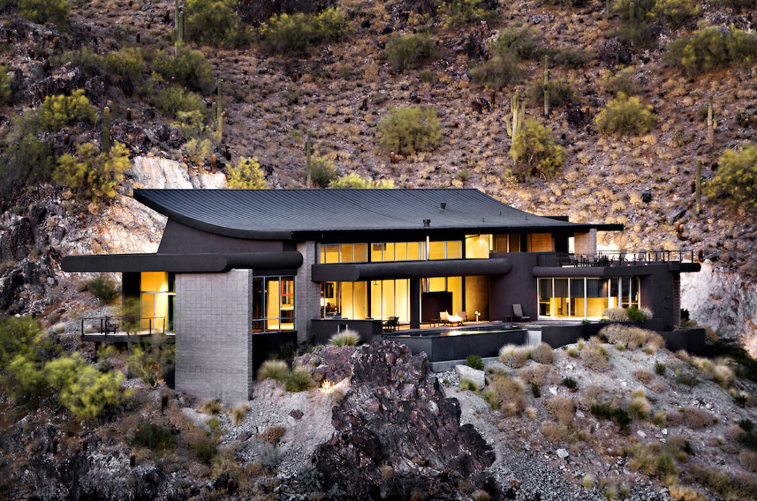 Palm canyon desert modern drewett works for Modern home builders phoenix