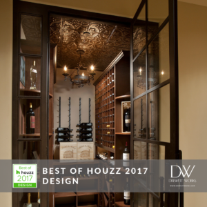 DW was named Best of Houzz 2017 Design for this beautiful wine room.