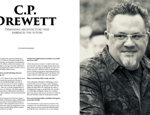 C.P. Drewett Profiled in Upscale Living Magazine