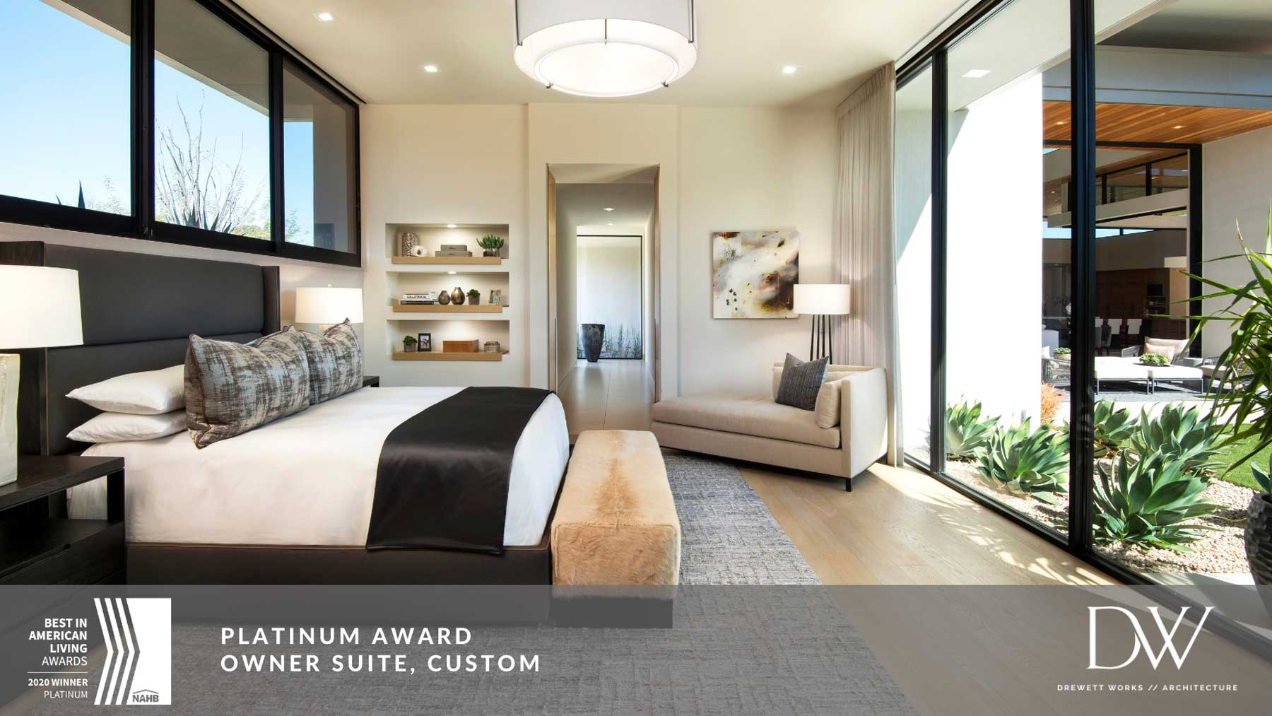 Owner Suite, Custom Platinum Award winner BALA Awards 2020